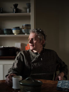 Portrait of potter Steve Harrison in his North London home
