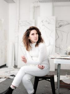 Alexandra Coe in her London Studio