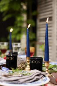 Table setting for Evermore London's Moon fragrance