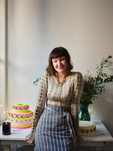 Lily Vanilli at her Columbia Road cake shop