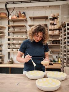 Ana Kerin of Kana working on Evermore bowl