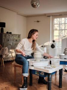 Ceramicist Rosa Wiland Holmes